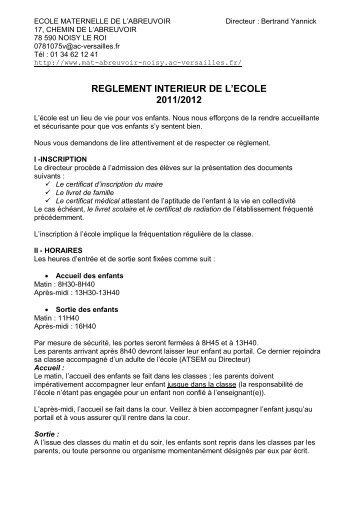 ECOLE MATERNELLE DE L'ABREUVOIR