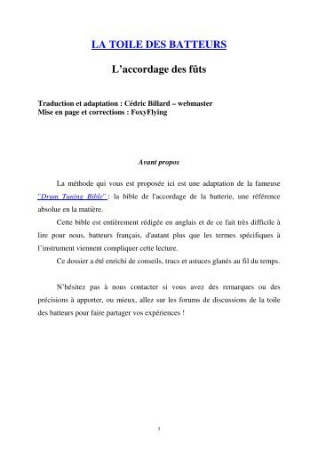 Fichier au format pdf (240 ko) - La Toile des batteurs