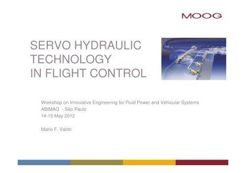 SERVO HYDRAULIC TECHNOLOGY IN FLIGHT CONTROL