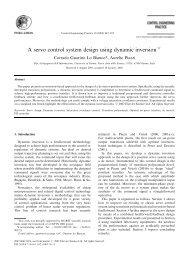 A servo control system design using dynamic inversion - CiteSeerX