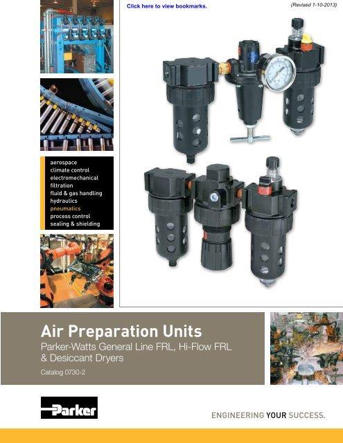 0-125 psi Pressure Range Parker R119-08CG Regulator Gauge 400 scfm 1 NPT