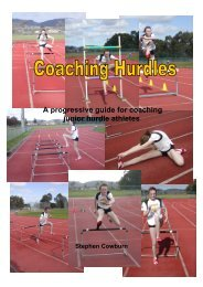 A progressive guide for coaching junior hurdle athletes