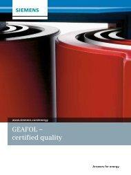 GEAFOL – certified quality - Siemens Energy
