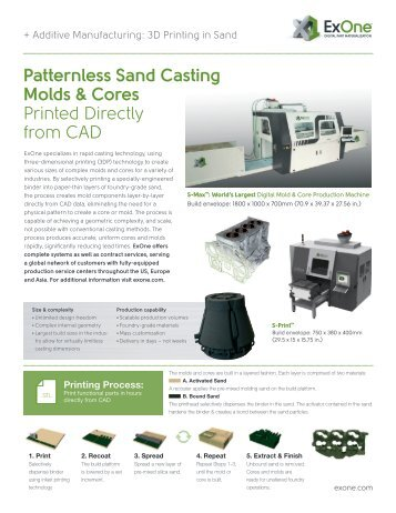 Patternless Sand Casting Molds & Cores Printed Directly ... - ExOne