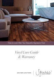 Vinyl Care Guide & Warranty - Signature Floorcoverings