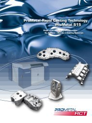 ProMetal Rapid Casting Technology ProMetal S15 - Prometal RCT ...
