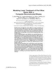 Modeling laser treatment of port wine stains with - University of Arizona