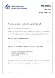Climate control: acclimatising to the heat - Australian Sports ...