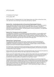 WFTO 10 Standards - Fair Trade