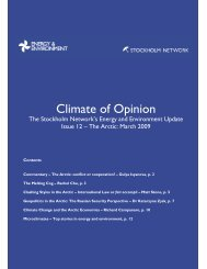 Climate of Opinion 12 - The Stockholm Network