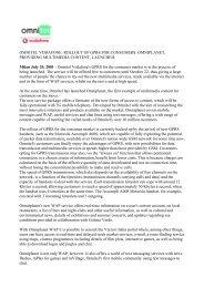 OMNITEL VODAFONE: ROLLOUT OF GPRS FOR CONSUMERS ...