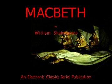 Macbeth - Penn State University
