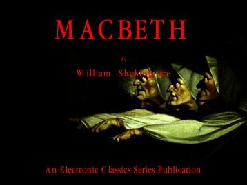 Macbeth - Penn State University