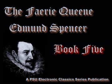 The Faerie Queene, Book V - Penn State University