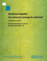 Dominican Republic: Can universal coverage be achieved?
