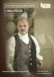 i, malvolio drama activities - Unicorn Theatre