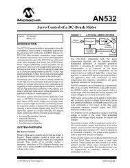 Servo Control of a DC-Brush Motor - Microchip