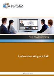 Lieferantenrating mit SAP - Soplex Consult GmbH