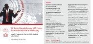 10. Berlin-Brandenburger SAP-Forum der Fachhochschule ...