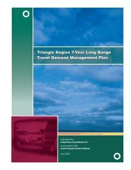 Triangle Region 7-Year Long Range TDM Plan - Triangle J Council ...