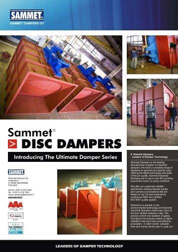 DISC DAMPERS - Sammet Industrial Dampers