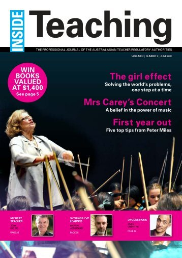 The girl effect Mrs Carey's Concert First year out - Australasian ...