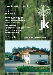 J -Kressibucher_Preisliste - Josef Kressibucher AG