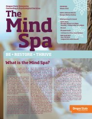 What is the Mind Spa? - Oregon State University