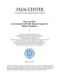 One Year Out: An Assessment of DADT Repeal's ... - Palm Center