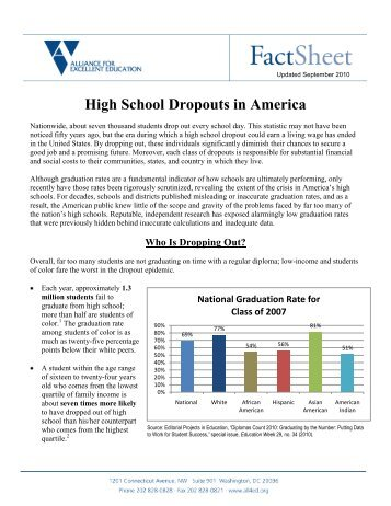 High School Dropouts in America - Alliance for Excellent Education