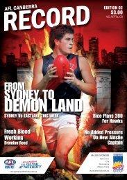 DEMON LAND - AFL Canberra