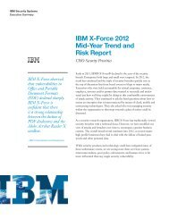 IBM X-Force 2012 Mid-Year Trend and Risk Report