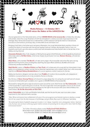 MOJO raises the Stakes at the LAVAZZA Bar - Lavazza - A Modo ...