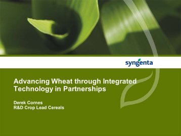 Advancing wheat through integrated technology in partnerships