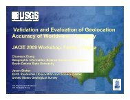 Validation and Evaluation of Geolocation Accuracy of Worldview-1 ...