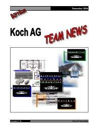 Vorarbeiter - Techniker - Zimmermeister Feier vom 29.10 ... - Koch AG