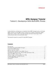 BPEL Designer Tutorial - Oracle