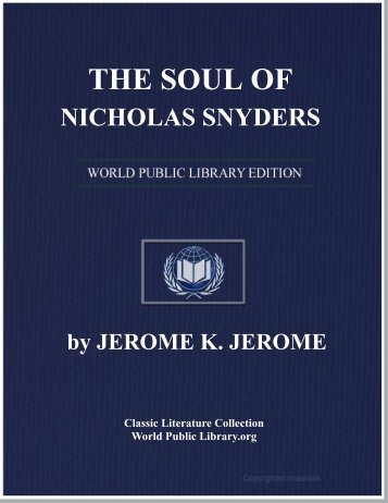 the soul of nicholas snyders - World eBook Library - World Public ...
