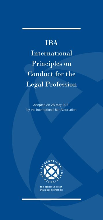 IBA International Principles on Conduct for the Legal Profession