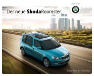 Der neue ŠkodaRoomster - J.H. Keller AG