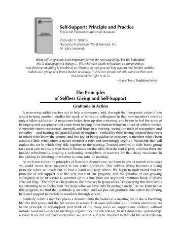 Self-Support: Principle and Practice The Principles of Selfless Giving ...