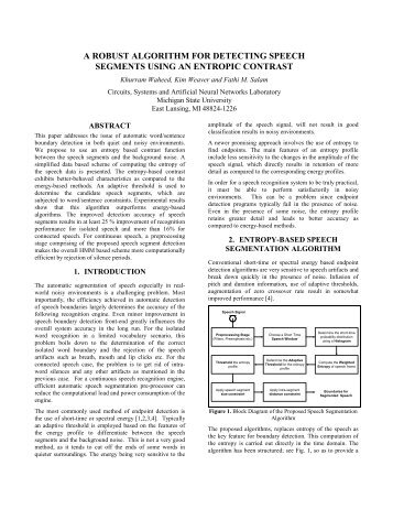 a robust algorithm for detecting speech segments using an entropic ...