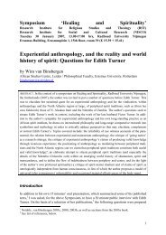 Experiential anthropology, and the reality and world history of spirit ...
