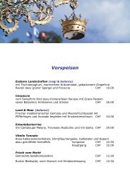 Vorspeisen - Hotel Krone, Lenzburg