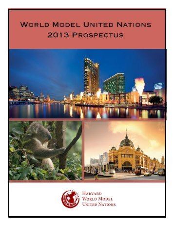 Conference Prospectus - World Model United Nations
