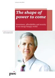 The shape of power to come - PwC