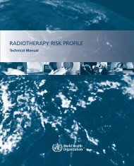 RADIOTHERAPY RISK PROFILE - World Health Organization