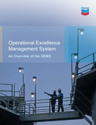 Operational Excellence Management System: An ... - Chevron