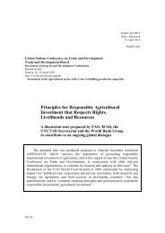 Principles for Responsible Agricultural Investment that ... - Unctad