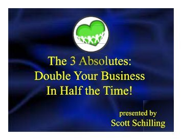 The 3 Absolutes - Amazon Web Services